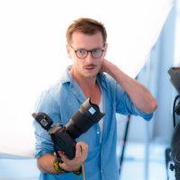 Mateusz Stankiewicz w sesji wizerunkowej Klif